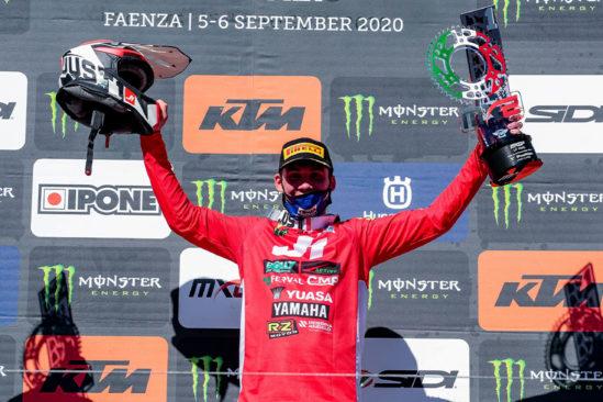 Das von Yuasa gesponserte Team SM Action Yamaha gewinnt den MXGP von Italien 2020