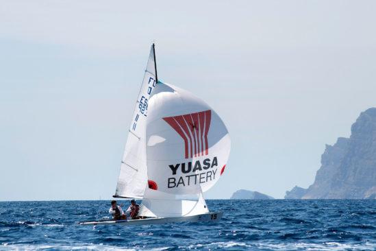 Yuasa Segelboot bei den Flying-Dutchman-Weltmeisterschaften