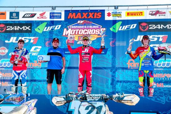 Siegerehrung Yuasa Motocross GP in Italien