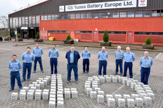 GS YUASA feiert 40 Jahre Batterieproduktion in seinem Werk in South Wales, GB