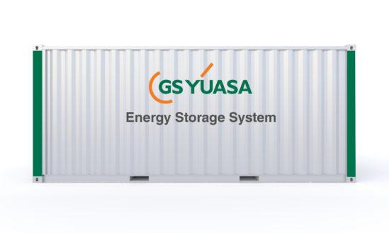 Dual-Chemical-Energiespeichersystem von GS YUASA im wetterfesten Container