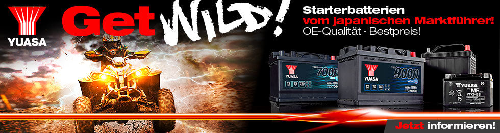 Get Wild! Quad Starter Batterien