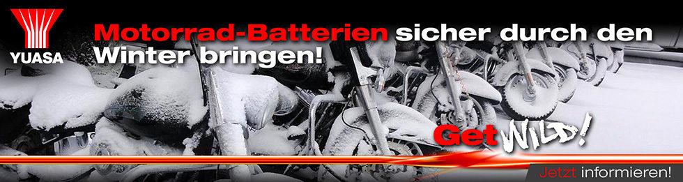 Motorrad-Batterien sicher durch den  Winter bringen!
