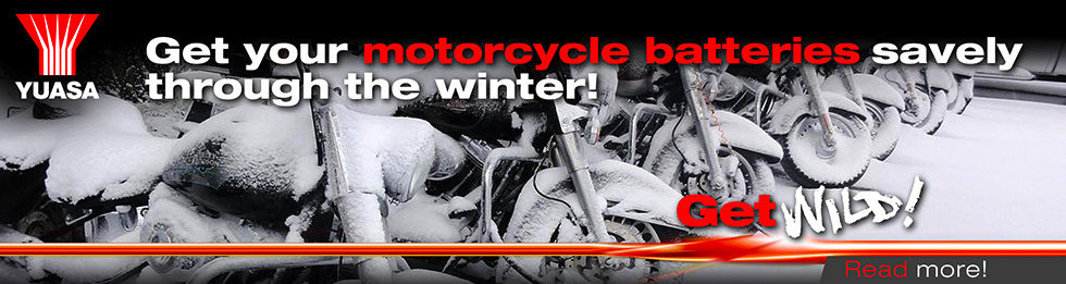 Get your motorcycle batteries savely  through the winter!