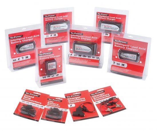 Die Yu-Power Ladegeräte von GS YUASA ermöglichen ein einfaches Überwachen des Ladezustandes von Motorradbatterien.