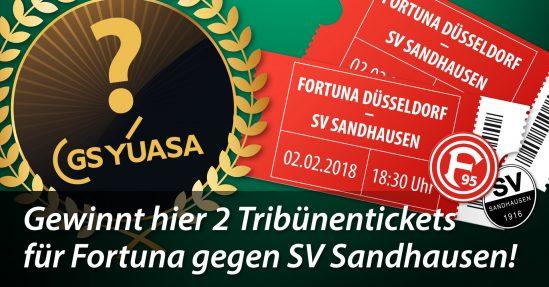 Verlosung auf Facebook von 2 Karten für das Spiel Fortuna Düsseldorf – SV Sandhausen