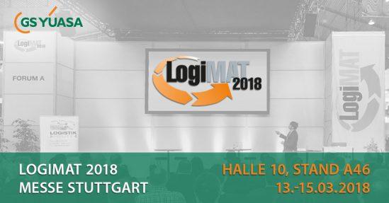 GS YUASA zum ersten Mal auf der LogiMAT 2018