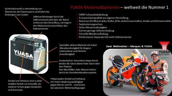 Warum eine Motorradbatterie von Yuasa? Hier die wichtigsten Gründe!